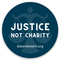 Justice Not Charity sticker