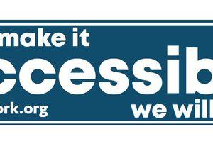 Accessible Bumper Sticker
